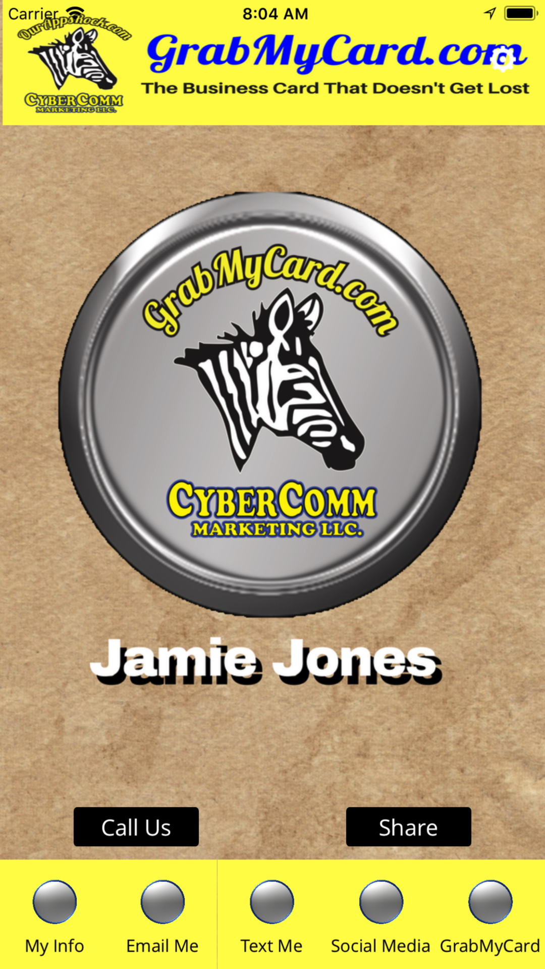 Jamie jones digital business card from grabmycard cybercomm jamie jones digital business card from starkville ms reheart Image collections